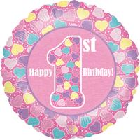 1st Birthday Little Hearts Balloon in a Box