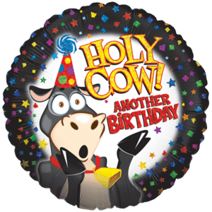 Holy Cow Birthday Time! Balloon in a Box