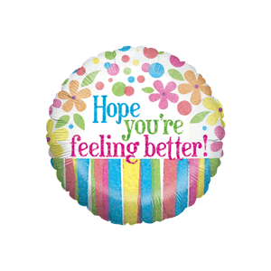 Pastel Hope Youre feeling Better Balloon in a Box
