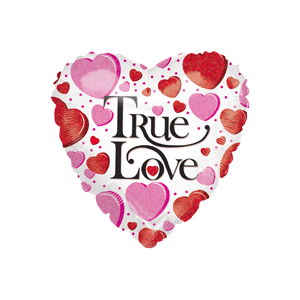 True Love White Heart Balloon in a Box