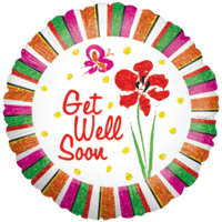 Get Well Soon Summers Day Balloon in a Box