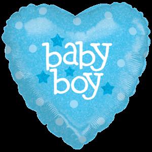Bright Baby Boy  Balloon in a Box