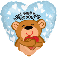 Get Well Soon Hugs and Hearts Balloon in a Box