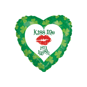 St. Patrick's Day Kiss Me Balloon in a Box