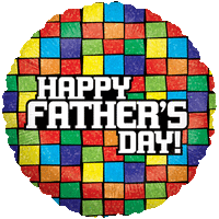 Fathers Day Mosaic Print Balloon in a Box
