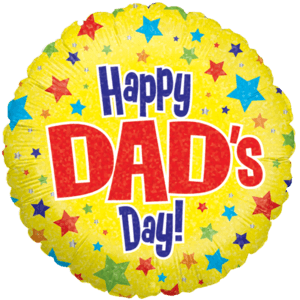 Happy Dad's Day Shinning Stars  Balloon in a Box
