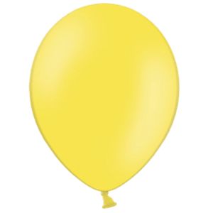 "12"" Yellow Balloons Product Display"