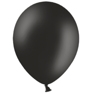 "12"" Black Balloons Product Display"