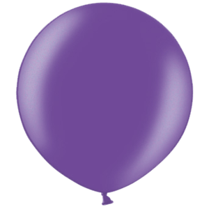 2ft Metallic Purple Giant Latex Balloon Product Display