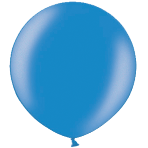 2ft Metallic Blue Giant Latex Balloon Product Display