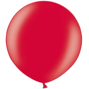 2ft Metallic Cherry Red Giant Latex Balloon Product Display