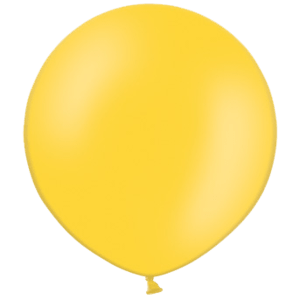 2ft Bright Yellow Giant Balloons Product Display
