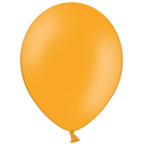 "10"" Orange Balloons Product Display"