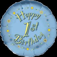 Little Boy's 1st Happy Birthday Balloon in a Box
