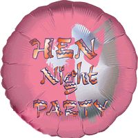 Pink Hen Night Party Balloon in a Box