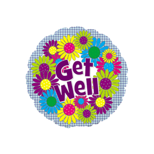 Get Well Daisy Balloon in a Box