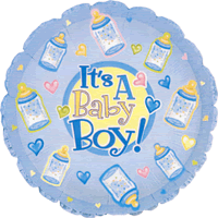 Its A Baby Boy Bottles Balloon in a Box