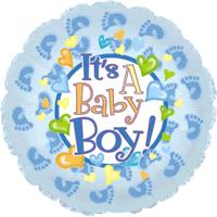 Little Feet Baby Boy Balloon in a Box