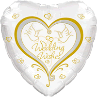 Wedding Wishes Curly Style Balloon in a Box