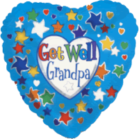 Grandpa Get Well Balloon in a Box