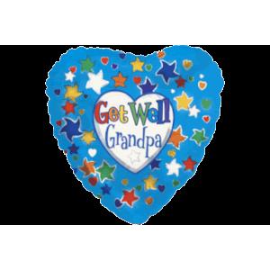 Grandpa Get Well Balloon in a Box