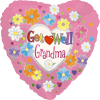 Grandma Get Well Balloon in a Box