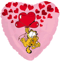 Floating Garfield Love Balloon in a Box