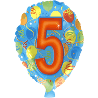 Five Party Balloon in a Box