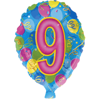 Nine Party Balloon in a Box
