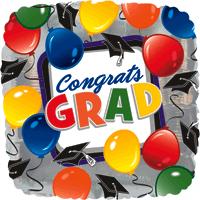 Congrats Party Square  Balloon in a Box