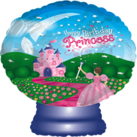 Princess Happy Birthday Globe  Balloon in a Box