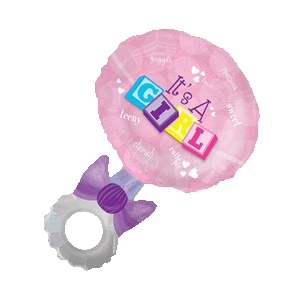 Baby Girl's Pink Rattle