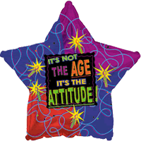 Attitude Not Age Star Balloon in a Box