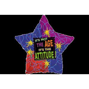 Attitude Not Age Star Balloon in a Box