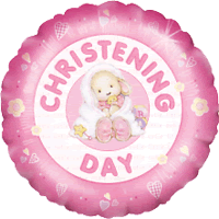 Girly Christening Day Balloon in a Box
