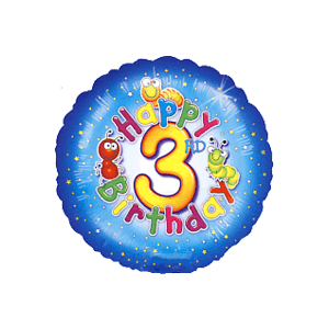 Happy 3rd Birthday Balloon in a Box
