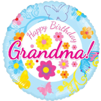 "18"" Happy Birthday Grandma Floral Balloon in a Box"