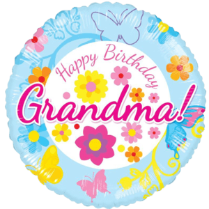 "18"" Happy Birthday Grandma Floral Balloon in a Box"