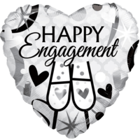 "18"" Happy Engagement Glasses Balloon in a Box"