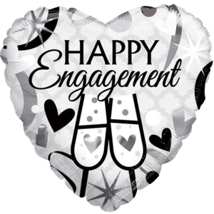 "18"" Happy Engagement Cheers Balloon in a Box"