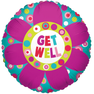 Get Well Colourful Big Flower  Balloon in a Box