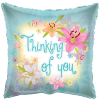 "18"" Thinking of You Flowers Balloon in a Box"