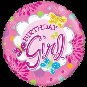 "18"" Birthday Girl Butterfly Balloon Balloon in a Box"