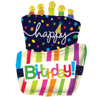 """36"""" Happy Birthday Colourful Cake Balloon in a Box"""