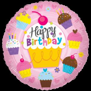"18"" Birthday Mini Cupcakes Balloon in a Box"