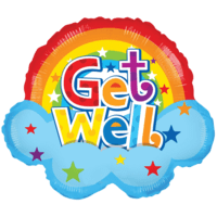 Colourful Rainbow Get Well Soon