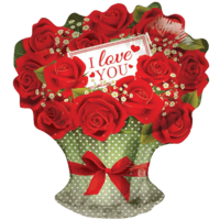I Love You Red Rose Bouquet Shape