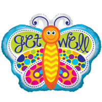 Cheerful Get Well Butterfly
