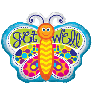 Get Well Butterfly Cheerful Balloon in a Box