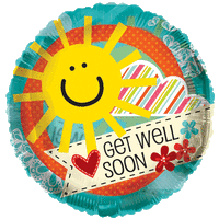 Cheerful Get Well Soon Sun Balloon in a Box